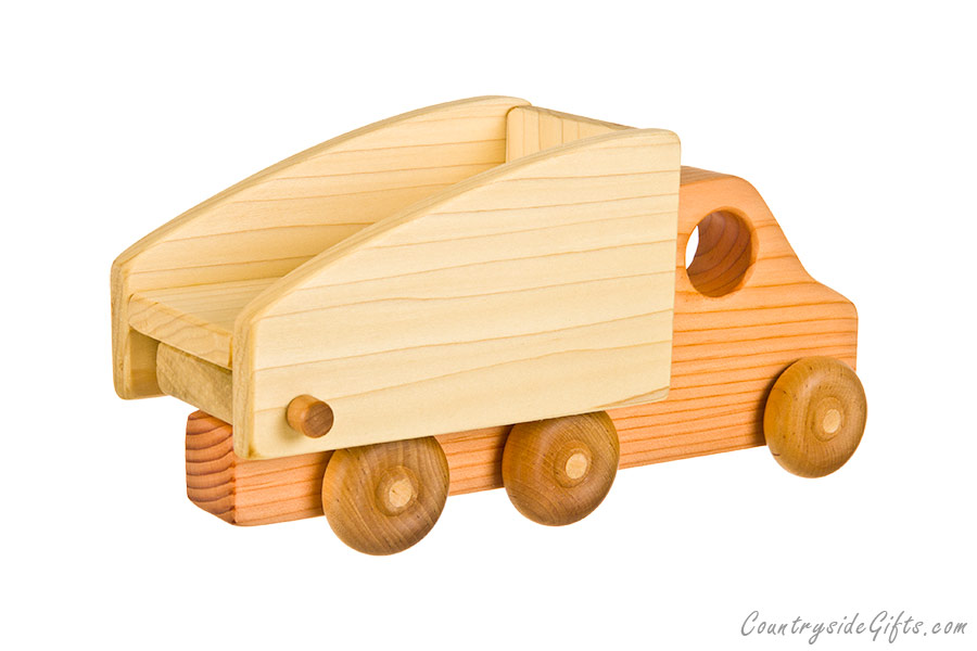 Home Shop Toys Toy Construction Equipment Wooden Toy Dump Truck